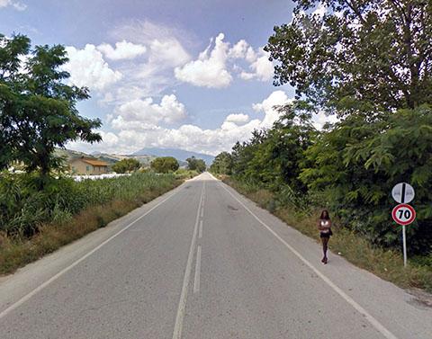Strada Provinciale 1 Bonifica del Tronto, Controguerra, Abruzzi, Italy