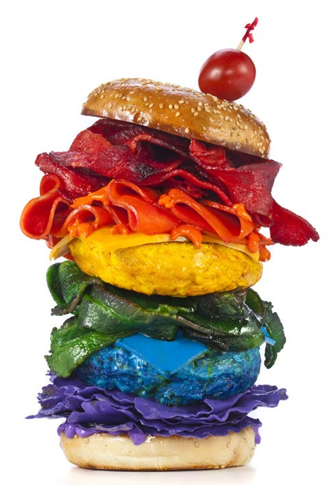 rainbow hamburger Henry Hargreaves photography