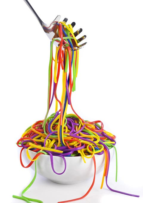 rainbow noodles Henry Hargreaves photography