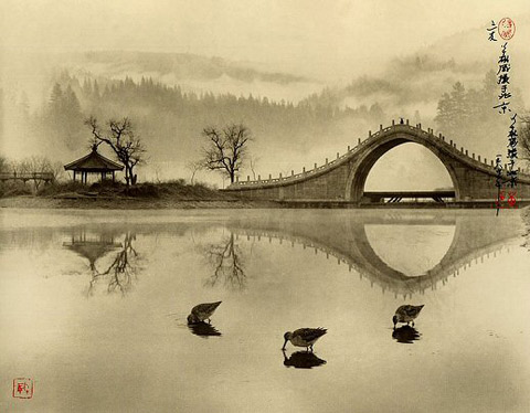 Asian pictorialism Don-Hong-Oai Chinese landscape photographs
