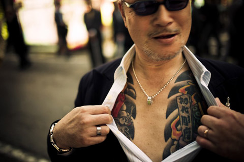 Photographing the Yakuza