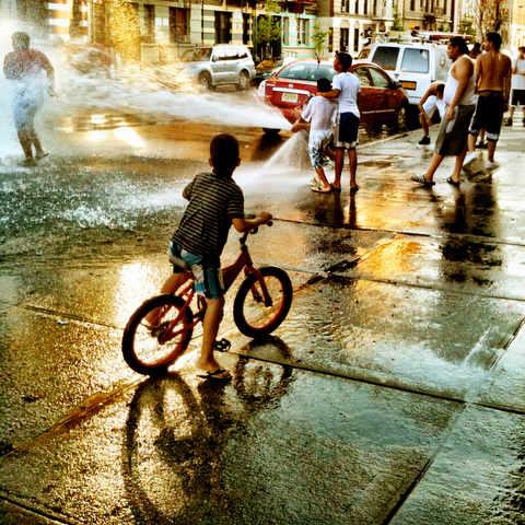 fire hydrant summer bronx Giovanni Savino