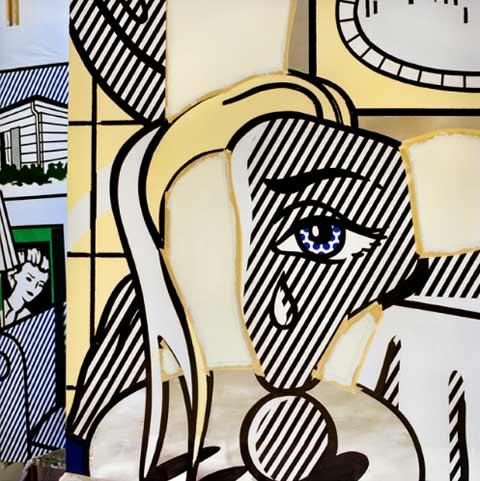 Roy-Lichtenstein-studio Laurie Lambrecht