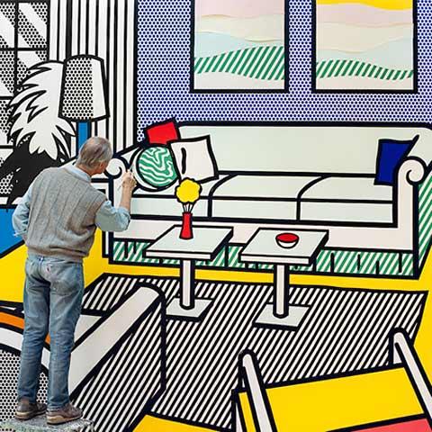 A Graphic Glimpse Inside the Studio of Roy Lichtenstein