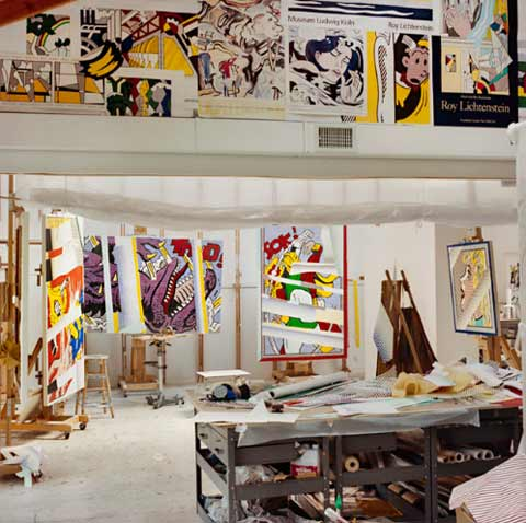 A Graphic Glimpse Inside The Studio Of Roy Lichtenstein