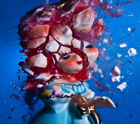 Grotesque Photographs of Exploding Toys and Figurines