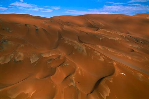 George-Steinmetz Paraglider over Mega Dunes, Dasht-e Lut, Iran 2003