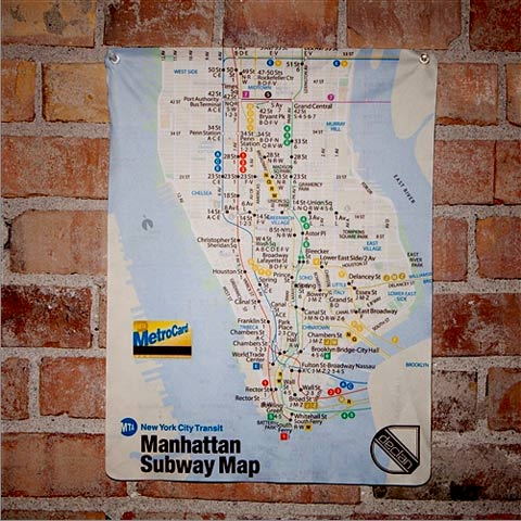 Manhattan-subway-map cleaning cloth