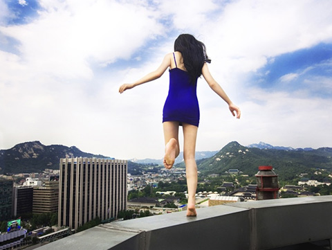 Ahn Jun Precariously Balances on Skyscrapers in Dizzying Self-Portrait Series