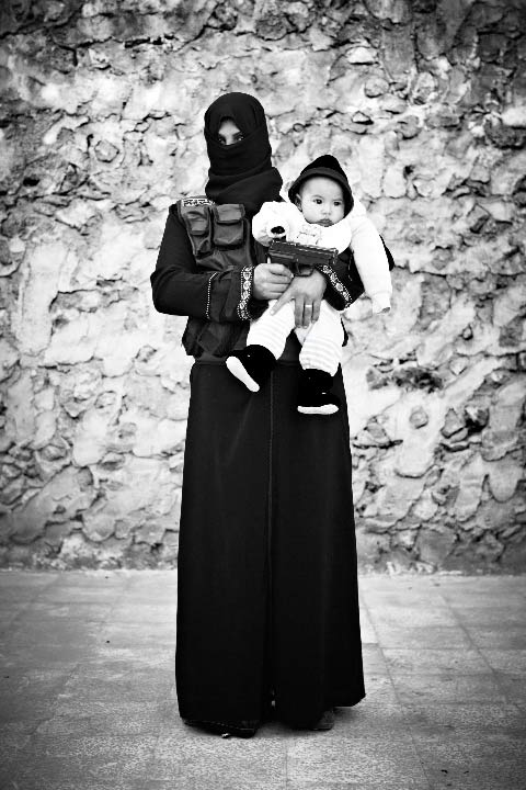 Portraits of an All-Female Fighting Unit of the Free Syrian Army