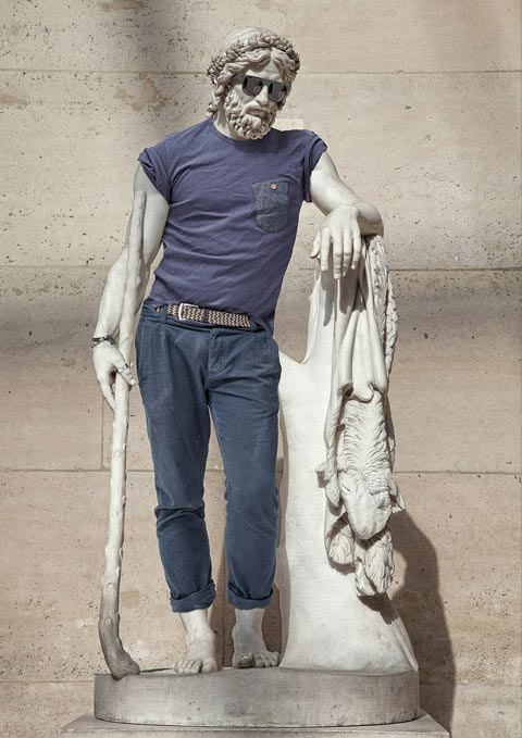 Classic Statues Photographed as Everyday Hipsters