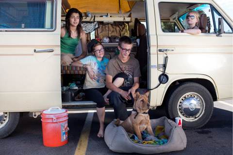 Portraits Of People Camping In Walmart Parking Lots