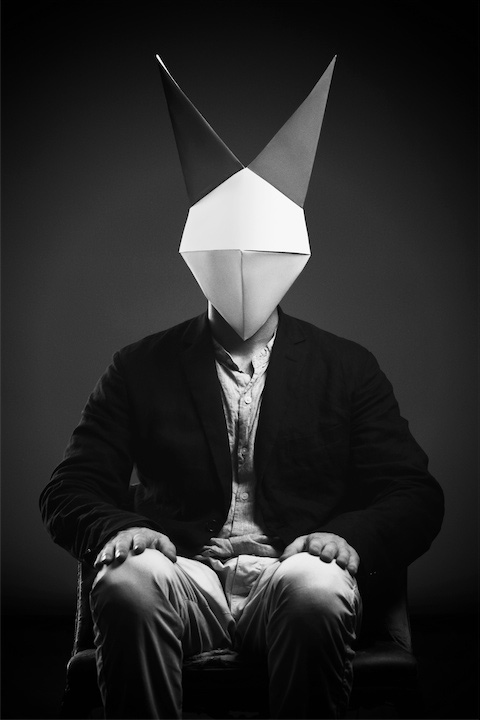 Disconcerting Portraits Of People Wearing Origami Animal Masks