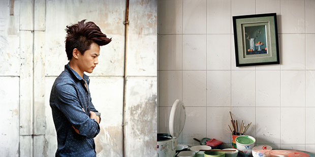 Portraits of Chinese Hairdressers and Their Humble Living Quarters
