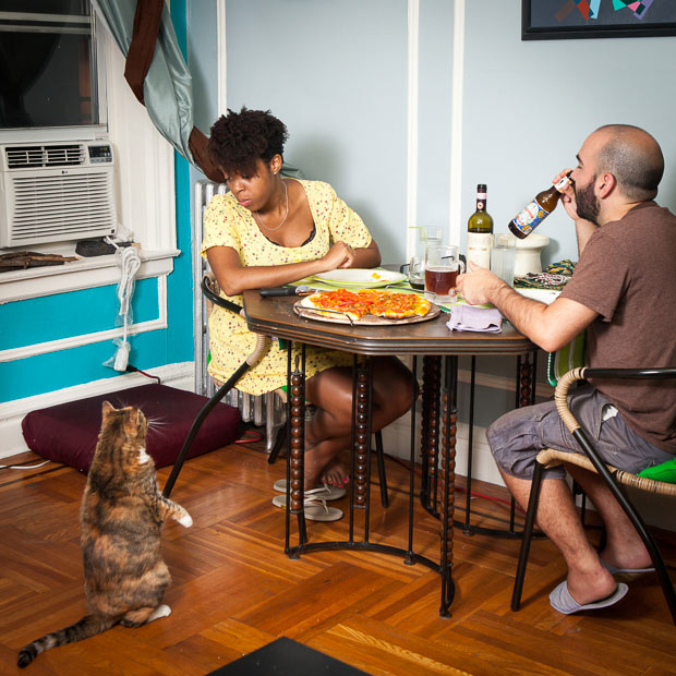 Fascinating Portraits Reveal How New Yorkers Eat Dinner