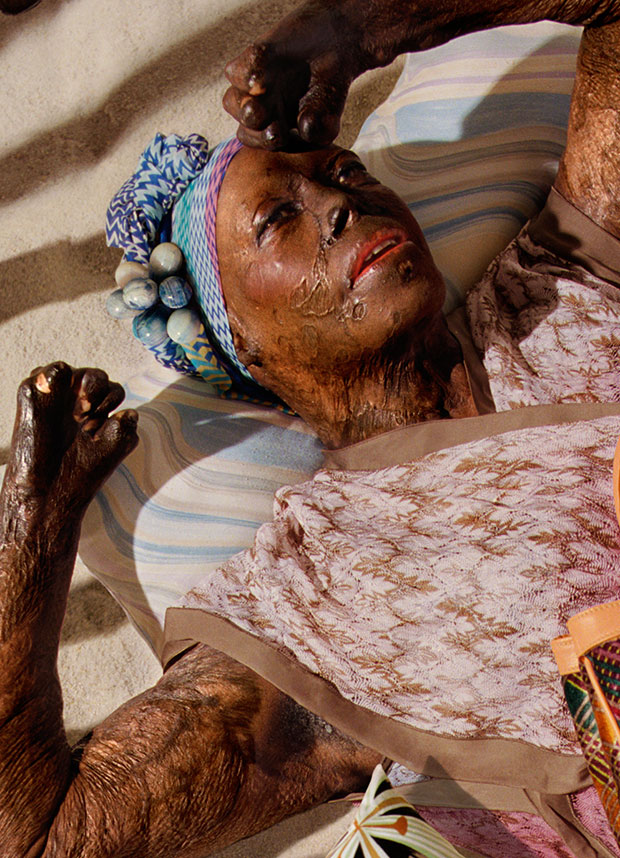 Captivating Photographs of Trauma Survivors Reenacting Scenes from a Missoni Catalogue