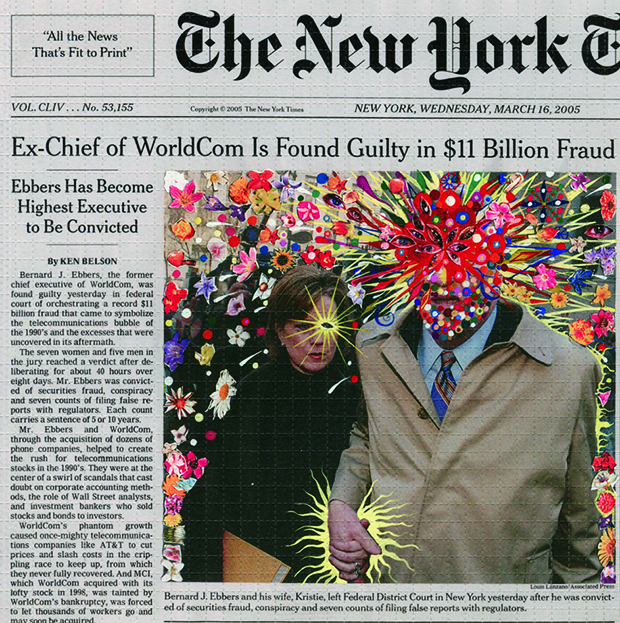 Artist Fred Tomaselli Gives the Front Page of The New York Times a Makeover