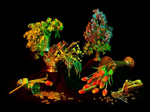 Photos of Multicolored Floral Arrangements Evoke Wiccan Spells