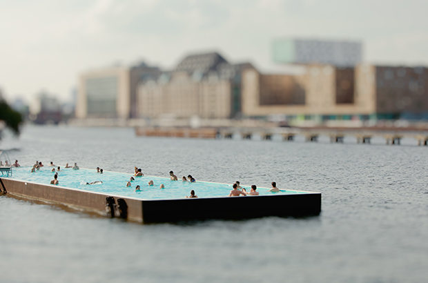 Miniature Version of Berlin's Floating Swimming Pool