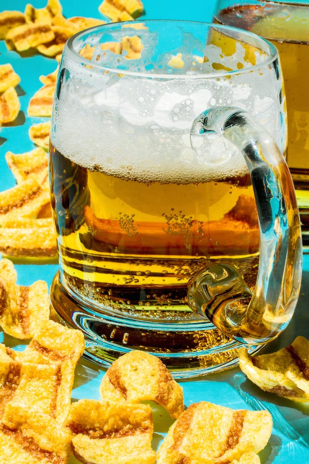 Cocktail Hour: Draft Beer and Bacon Crisps