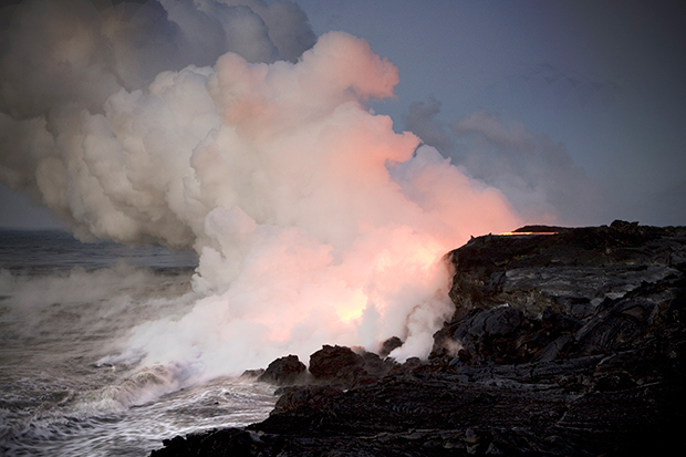 When Hot Lava Meets the Pacific Ocean