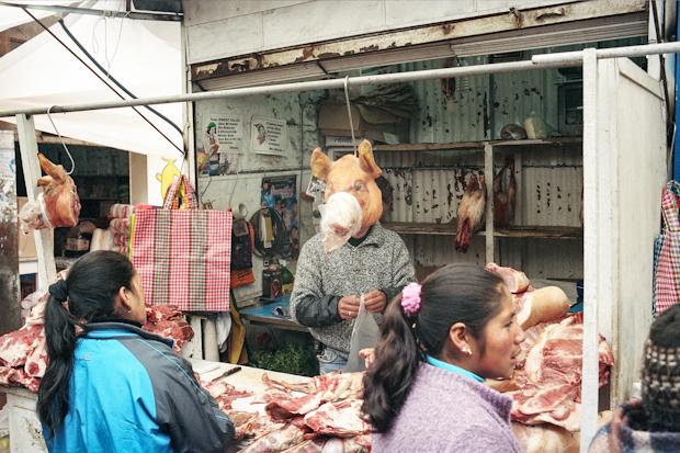 Meat Market at Cerro de Pasco, Peru, 2012
