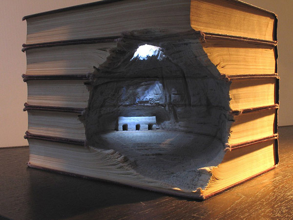 Guy Laramée's Beautiful Landscapes Carved From Old Books