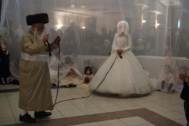 A Strictly Orthodox Rabbi Dances The Mitzvah Tantz At Wedding Of His Grand Daughter In Central Israeli City Bnei Brak