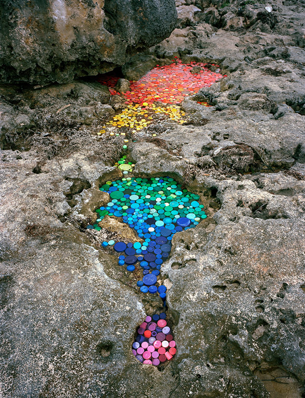 Colorful Sculptures Reveal the Devastating Volume of Plastics Washed Ashore in Sian Ka'an, Mexico