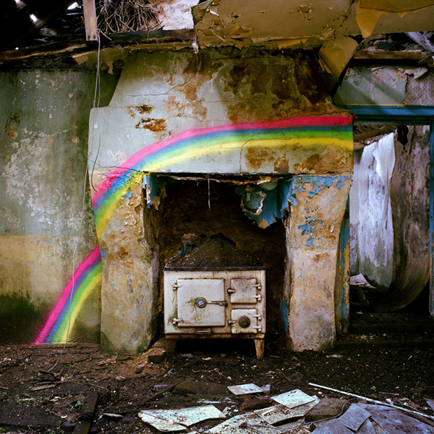 Craft Supplies, Spray Paints and Glittery Things Bring Abandoned Irish Cottages Back to Life