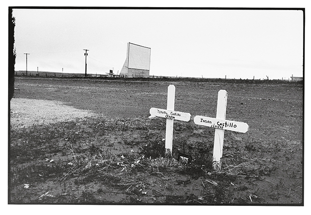 Wim Wenders, Twin graves and drive-in cinema, Marfa, Texas, 1983, Image Courtesy the artist and BlainSouthern