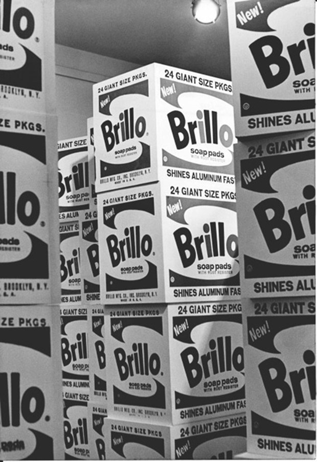 Brillo boxes at the Stable gallery, 1964