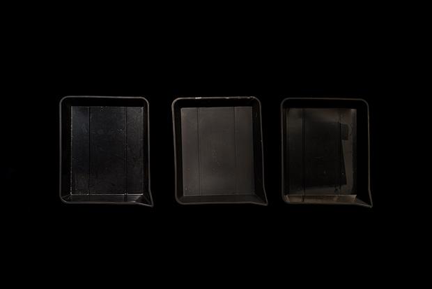 Three Print Developing Trays