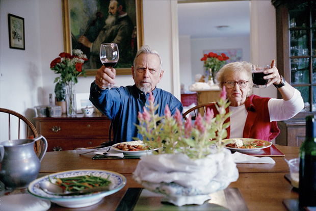 Elderly People With Wine