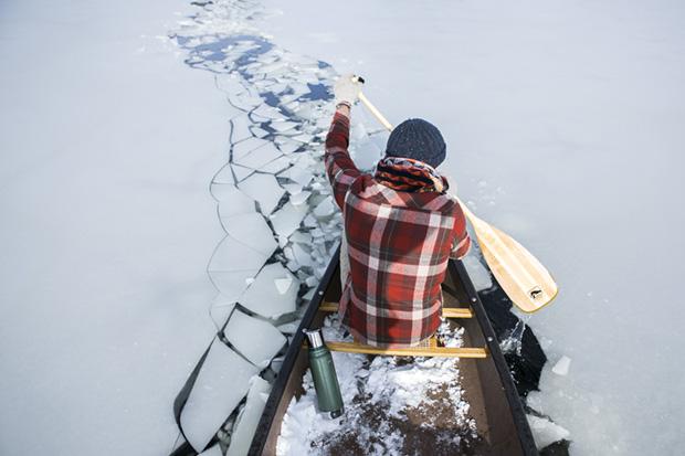 Paddling Through the Ice