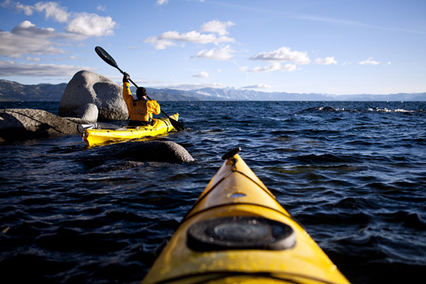 Kayaking on Lake Tahoe, Kings Beach, CA