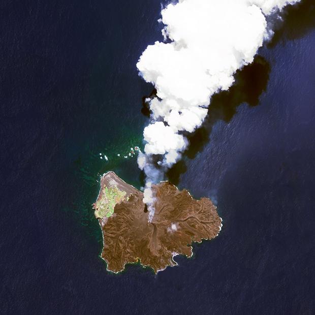 Nishinoshima+Island+Volcano+Jul1