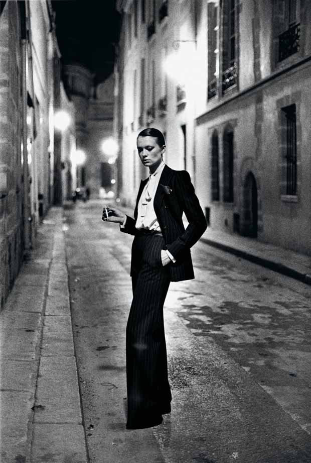 Yves Saint Laurent French Vogue Rue Aubriot Paris 1975 C Helmut Newton Estate