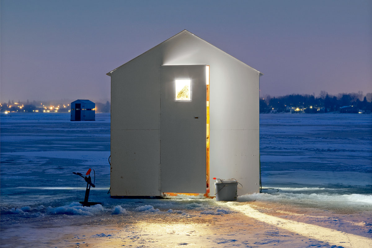 Canada 39 s tiny ice huts will make you shiver feature shoot for Fish house lights