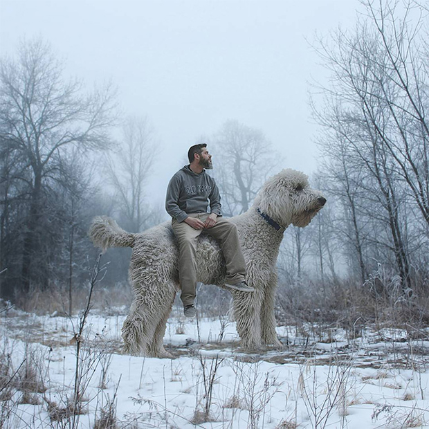 Sweet Photos of a Man and His Best Friend, A Giant Dog