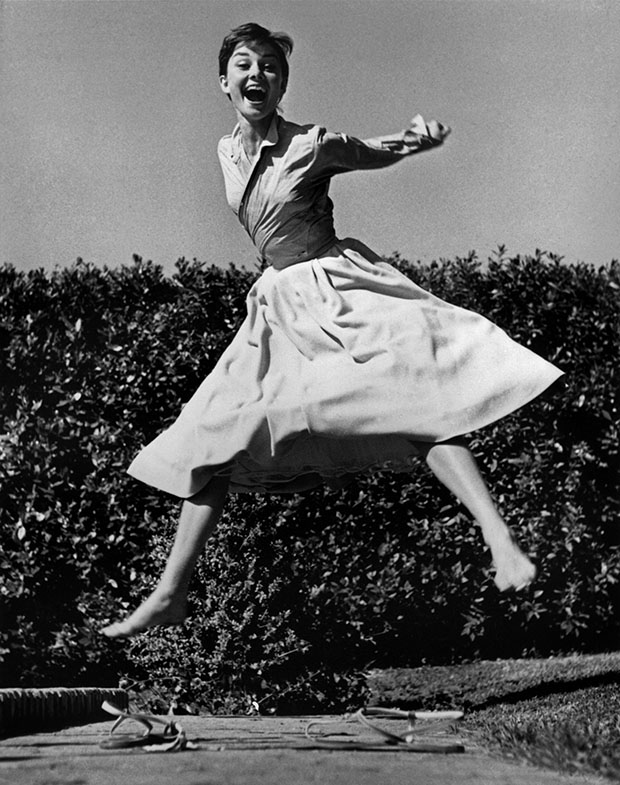 Dutch actress Audrey HEPBURN. 1955.