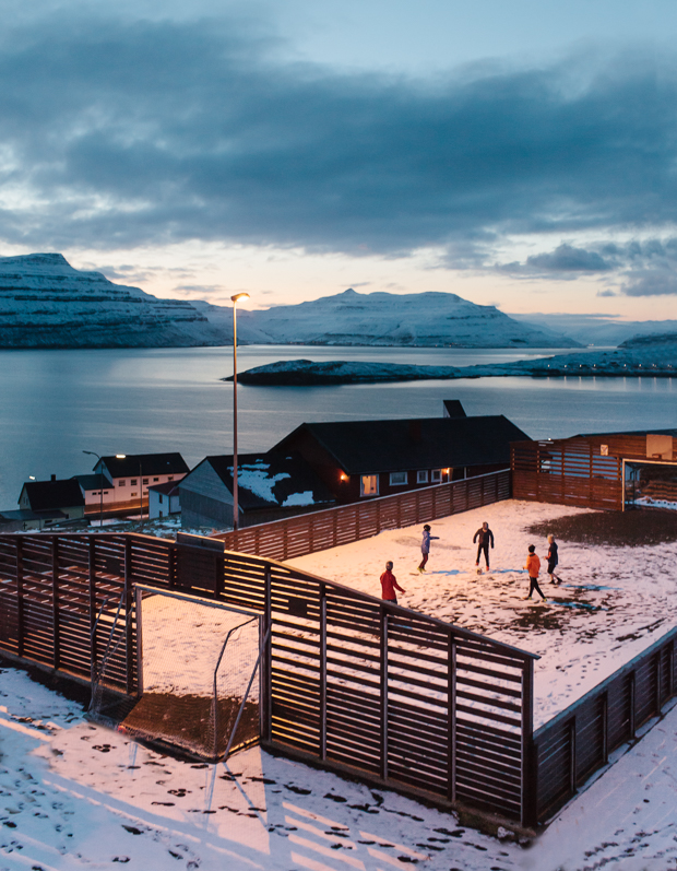 Football in Nes, Faroe Islands, 2016