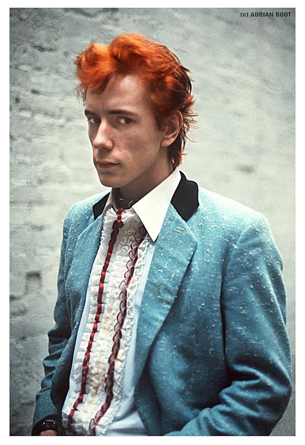 Johnny Rotten of the Sex Pistols at 'Gitterbest', London, 1977