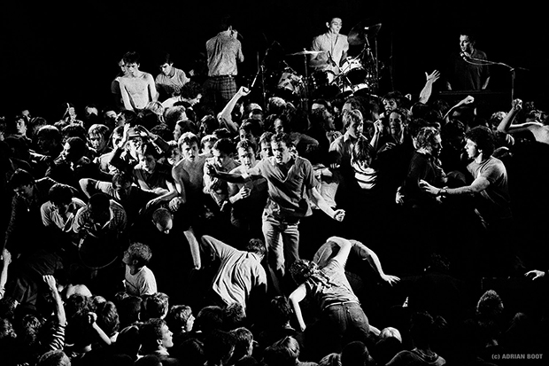The Specials concert in Brighton, stage invasion brings the concert to a climax, 1981