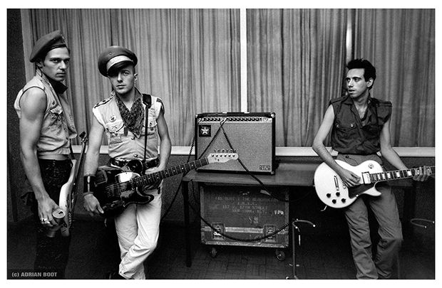 The Clash backstage at the Manchester Apollo, 1980