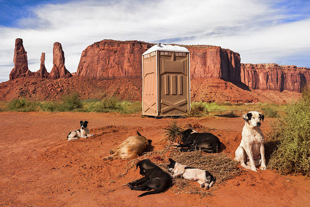 Portable Toilet in Monument Valley, Utah