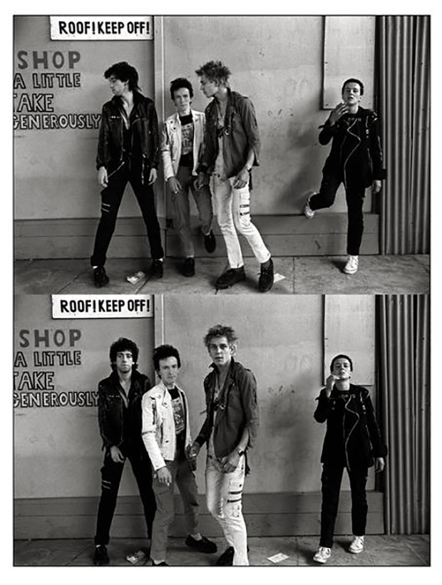 The Clash in London, Westway photosession, 1977