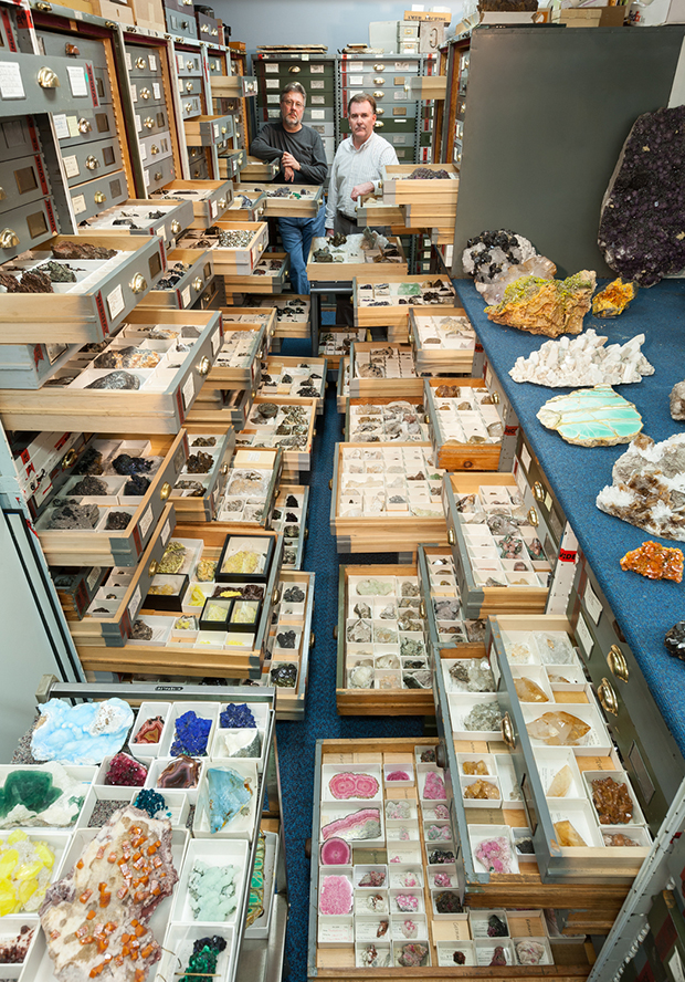 "Mineral Sciences Collections in the ""Blue Room"""