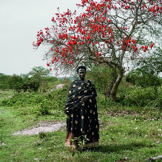 Hope Nduhakire, Ankole cattle farmer. Outside Kachwangobe, Kiruh