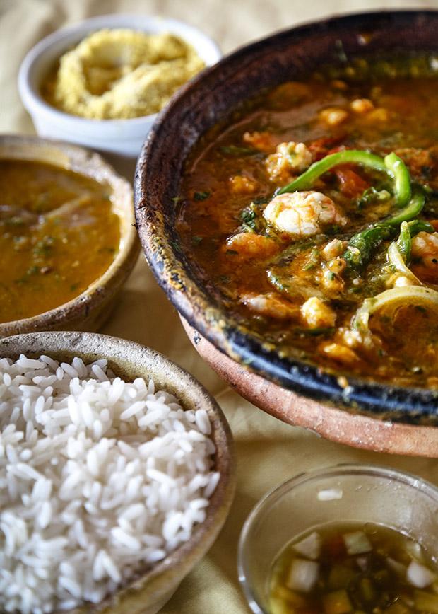 Moqueca dish, Salvador, Bahia, Brazil.